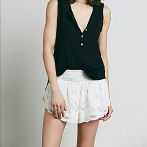 Free People Bali Salt Water Embroidered Shorts